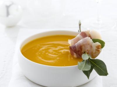 crema-di-zucca-e-capesante-alla-pancetta