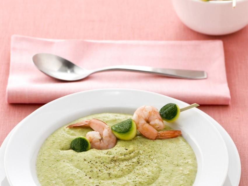 crema-di-zucchine-e-gamberi immagine