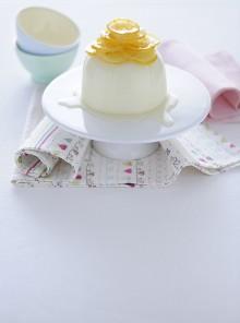La crema rovesciata con limoni caramellati