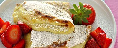 crepes con crema soffice e fragole ricetta