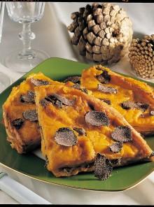 Crepes in giallo con tartufi