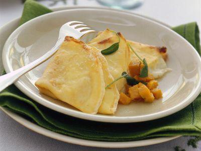 crespelle al formaggio con zucca ricetta