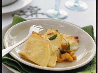 crespelle al formaggio con zucca Sale&Pepe ricetta