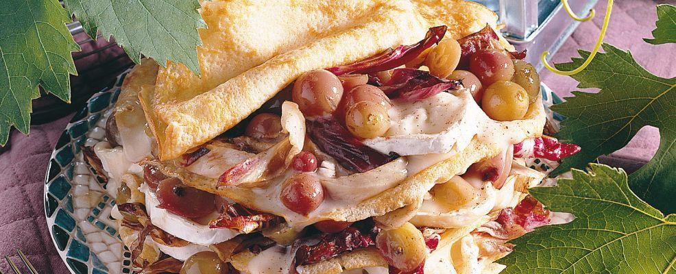 crespelle con uva e radicchio Sale&Pepe ricetta