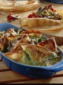 Crespelle con verdure grigliate