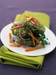 Le crocchette di orzo, carote e spinaci