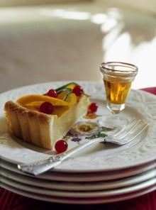 Crostata con crema di agrumi