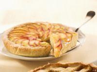 crostata-con-crema-e-pesche preparazione