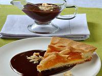 crostata con salsa di cioccolato amaro Sale&Pepe