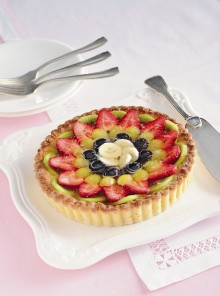 La crostata di frutta in gelatina di spumante