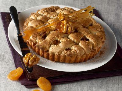 crostata-di-noci-e-albicocche-al-caramello