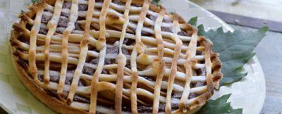 crostata di cacao, pere e ricotta ricetta