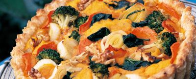 crostata di verdure e noci ricetta
