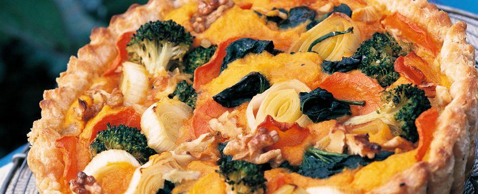crostata di verdure e noci Sale&Pepe