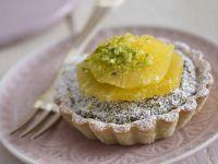 crostatine-con-crema-di-pistacchi-allarancia ricetta