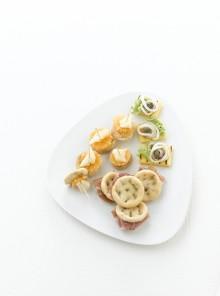 I crostini di polenta dorata