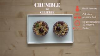 Il crumble di ciliegie