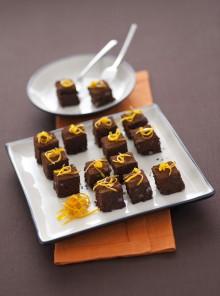 I cubotti al cioccolato con julienne di scorze candite