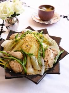 Cuscus con pollo al finocchio e cipollotti