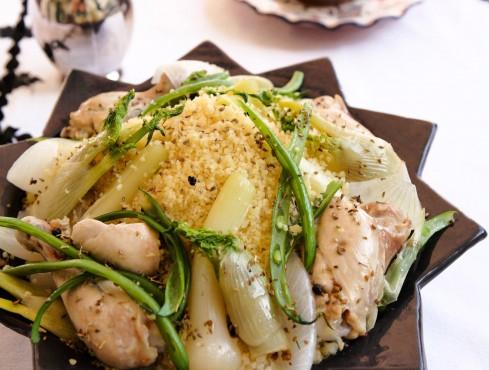 cuscus con pollo al finocchio e cipollotti Sale&Pepe ricetta