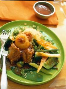 Cuscus di agnello con verdure