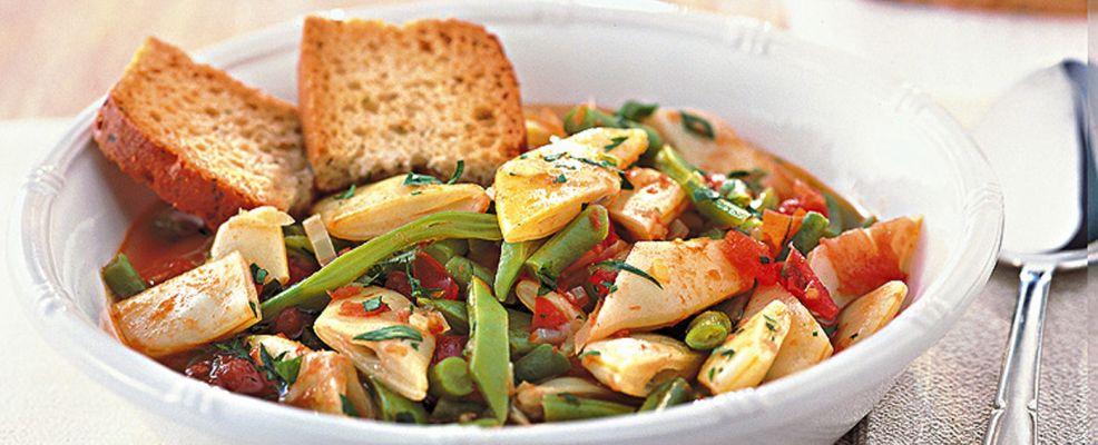 di-fagiolini-e-taccole-al-pomodoro ricetta