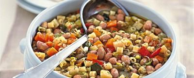 di-verdure-e-borlotti-con-i-ditalini ricetta