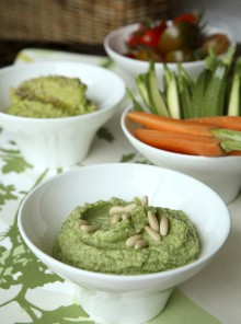 Il dip di fave e zucchine