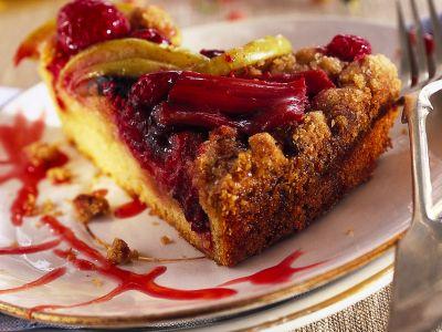 dolce di rabarbaro, mele e lamponi ricetta