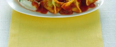 fagottini-con-piselli-e-scampi ricetta