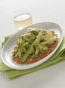 I filei calabresi con asparagi, pomodori e scamorza