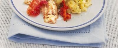 filetti di orata con bacon e crema di finocchi ricetta