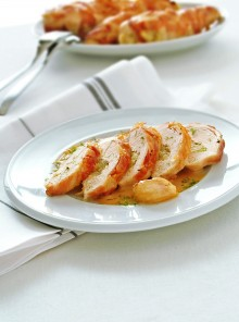 Filetti di pollo farciti con finocchio e pancetta