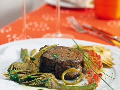 filetto-al-brandy-con-carciofi