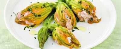 fiori di zucca ai gamberetti ricetta