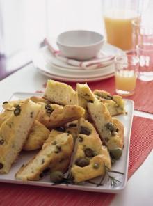 Focacce con olive e rosmarino