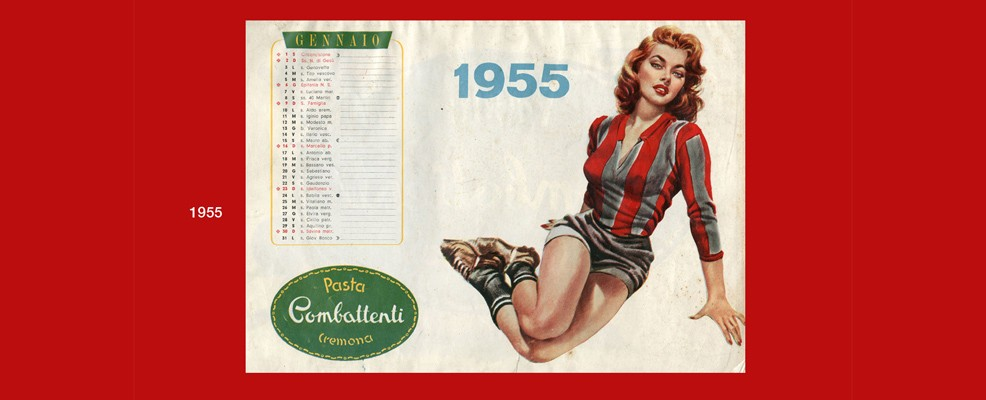 Mostra - Il calendario 1955 Pasta Combattenti