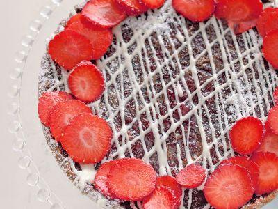 crostata fragole cioccolato