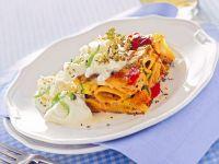 frittata-di-pasta-con-verdure-grigliate-e-burrata