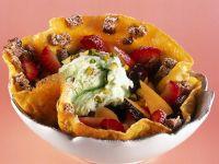 frittata dolce con frutta e gelato ricetta Sale&Pepe