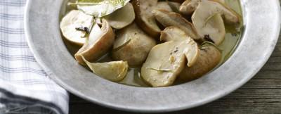 funghi marinati (Montefeltro, Marche) ricetta