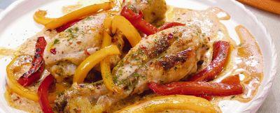 fusi di pollo ai peperoni ricetta