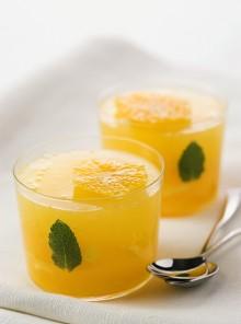 La gelatina all'arancia