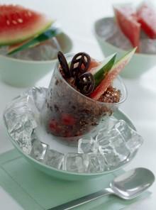 Granita di cioccolato alle ciliegie