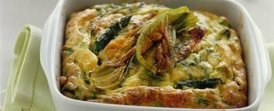 gratin di asparagi e fiori di zucca ricetta