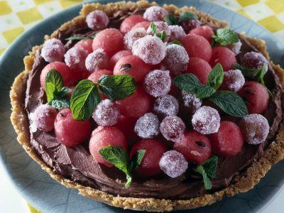 guscio croccante con uva e gelato ricetta