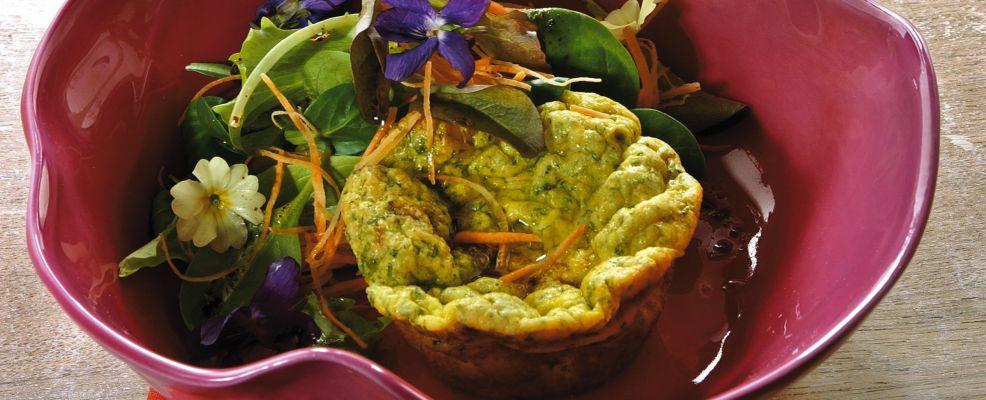 insalata con muffins di frittata e carote Sale&Pepe ricetta