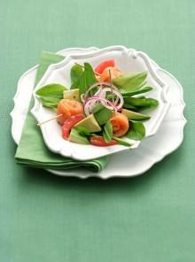 Insalata di avocado e pompelmo rosa