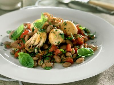 insalata di fagioli e moscardini ricetta