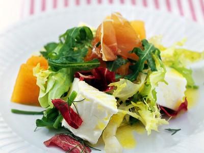 insalata-di-melone-e-primosale ricetta